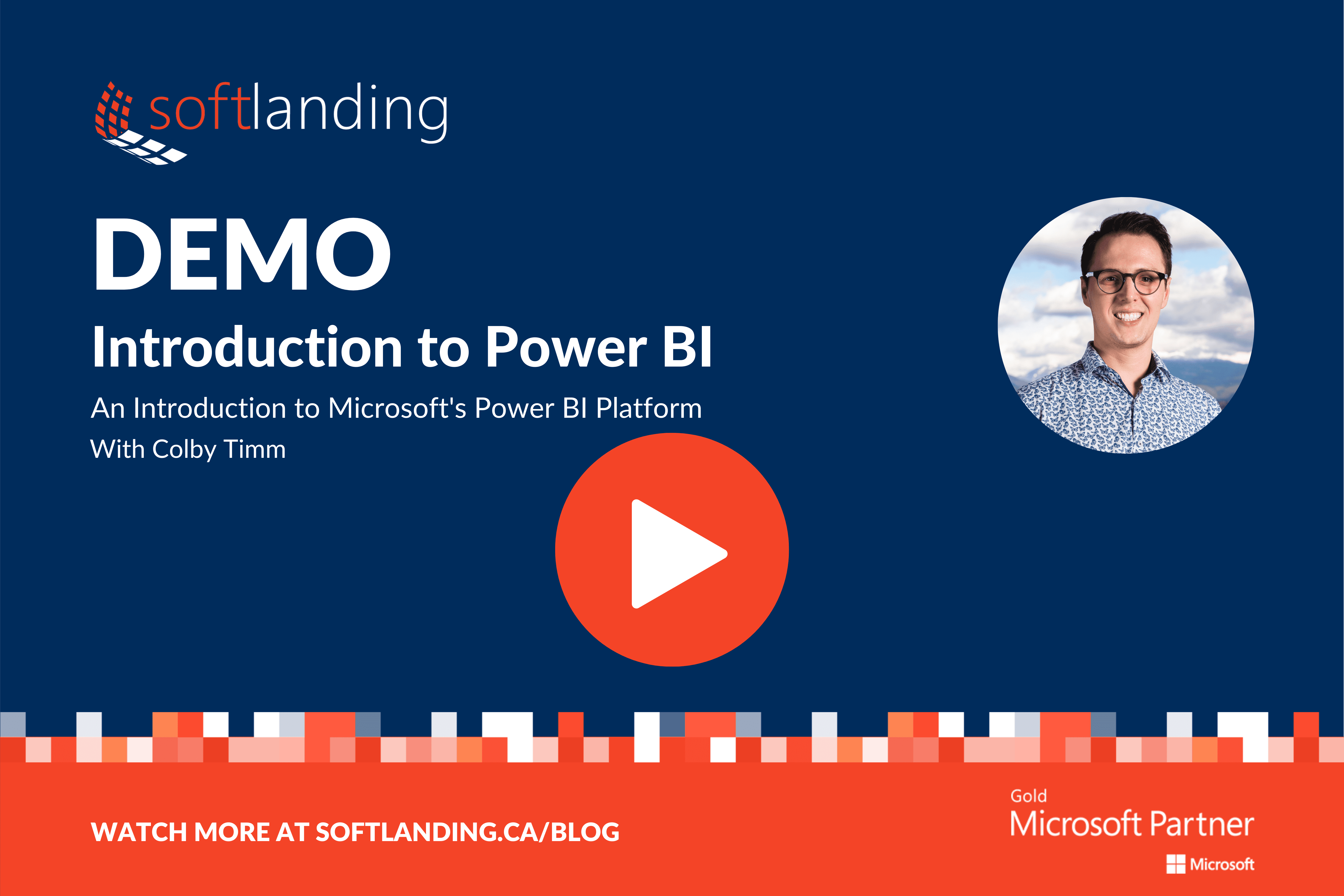 Intro to Power BI Banner play