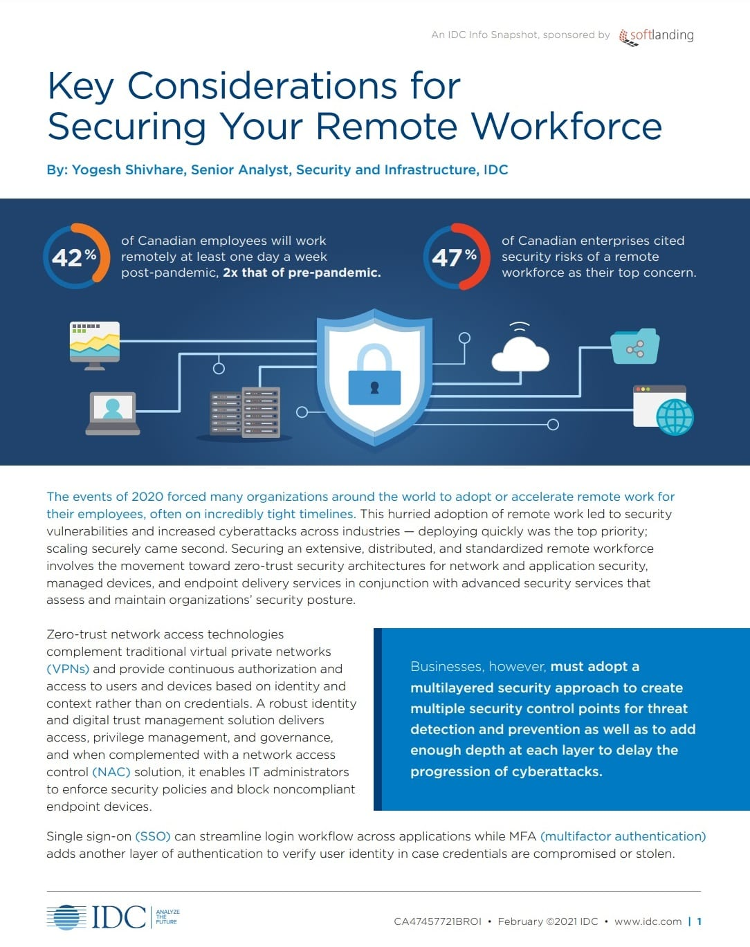 IDC Snapshot Securing Your Remote Workforce